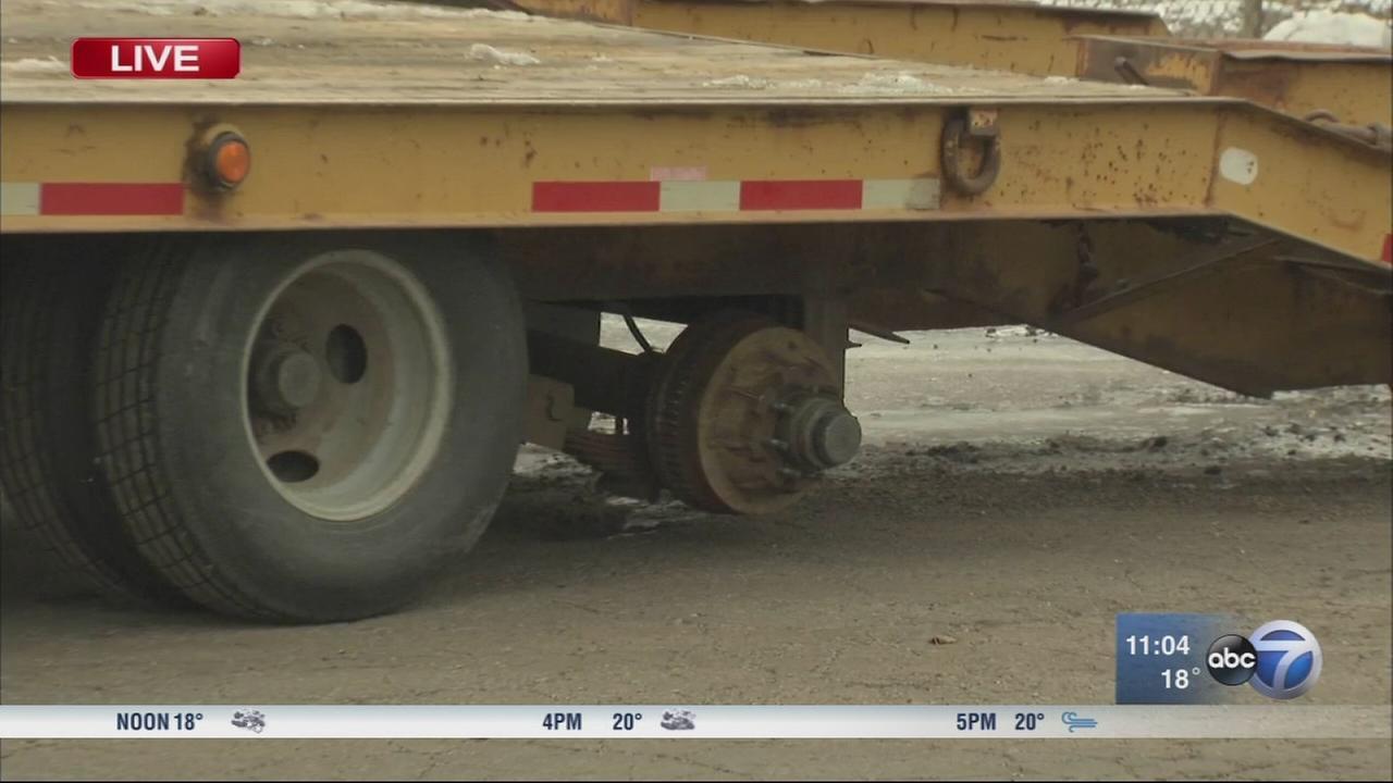 Tires fly off truck on Stevenson