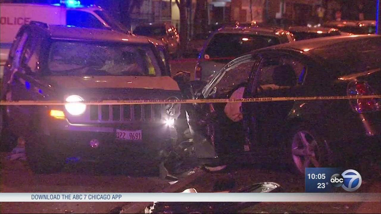 1 dead, 3 injured including child in Englewood shooting, crash