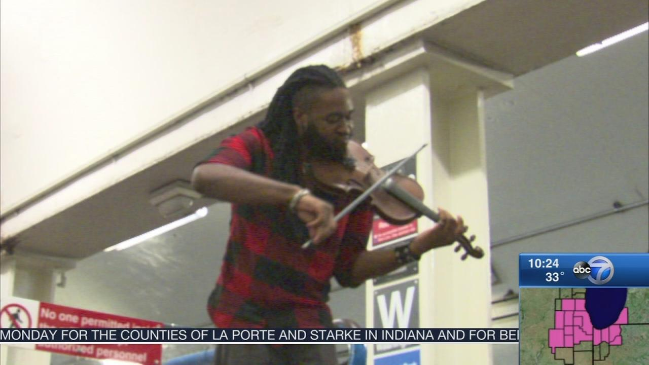 Violinist, 22, composes his own sound