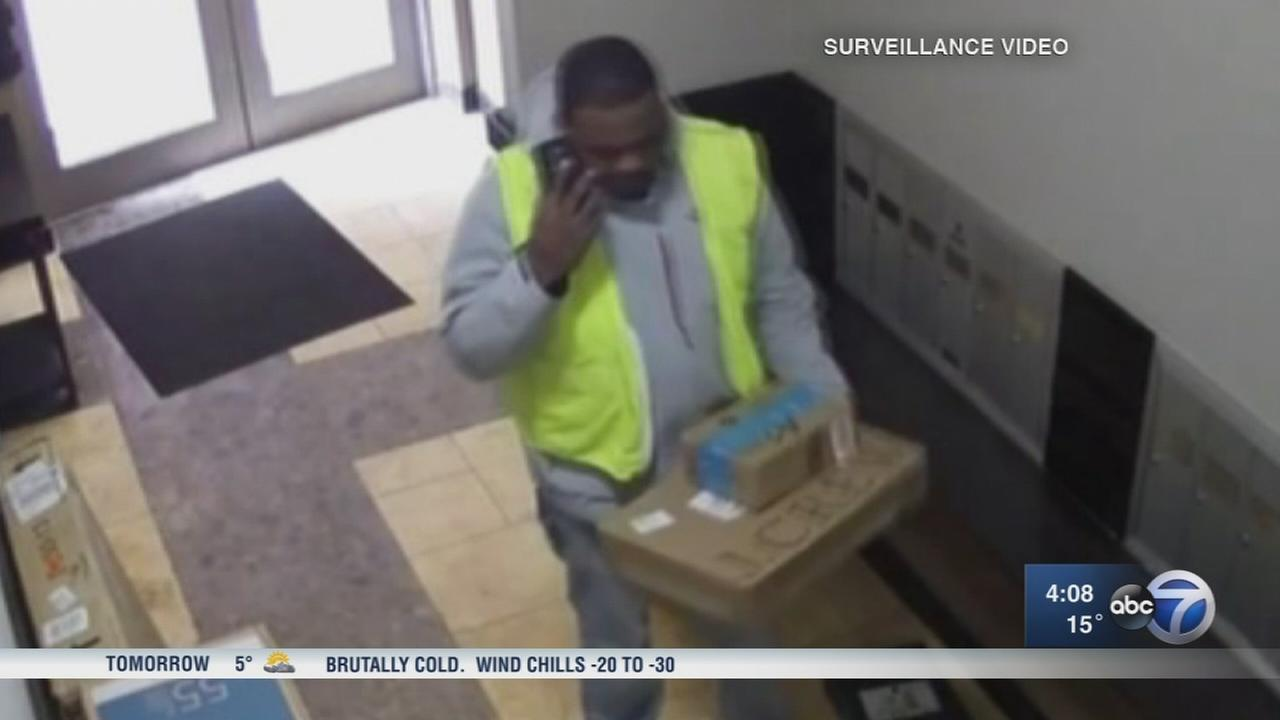 Package thief disguised as real deliveryman steals TV