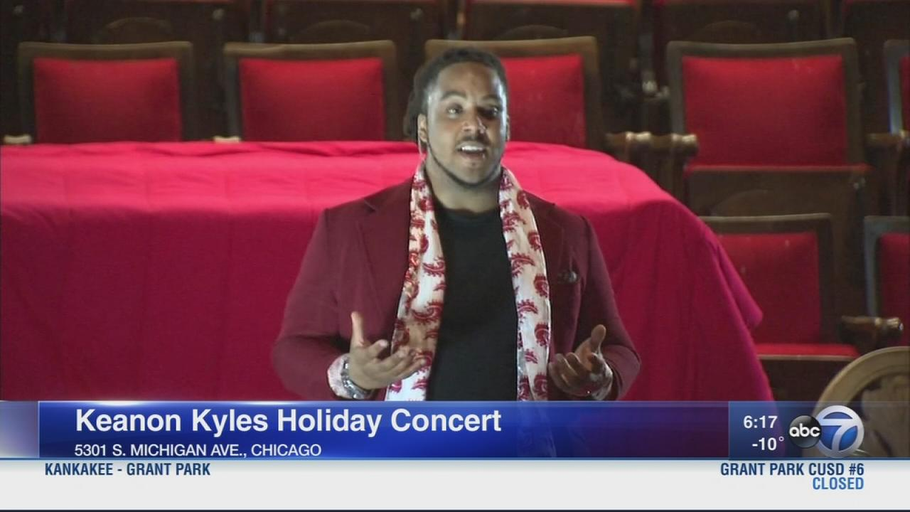 Keanon Kyles performs at  holiday concert