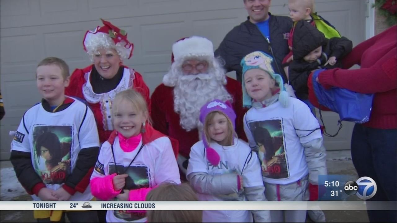 Single father and 7 kids celebrate Christmas admid cancer battles
