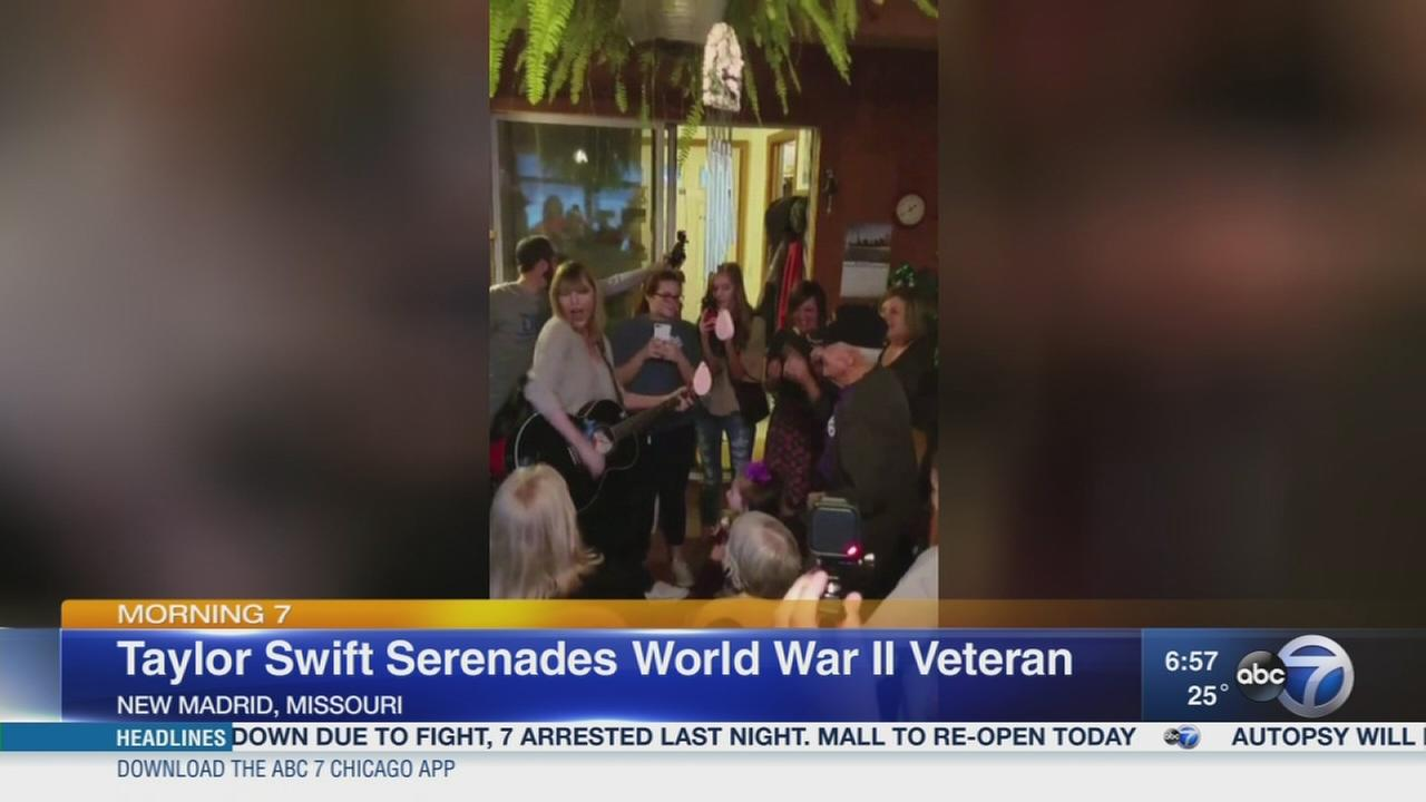 Taylor Swift sings for WWII vets birthday