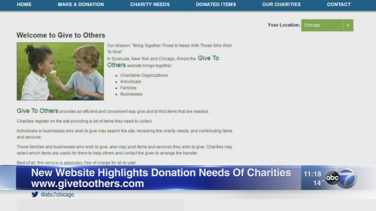New website makes it easy to fill charities specific needs