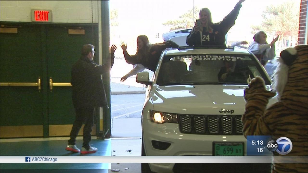 Wheaton soccer coach honored with new SUV