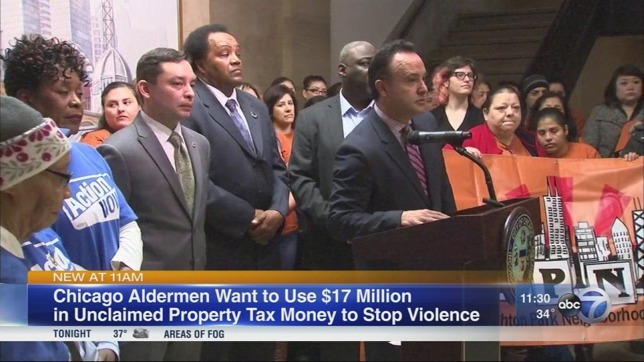Aldermen want $17M in tax rebate money to fight violence