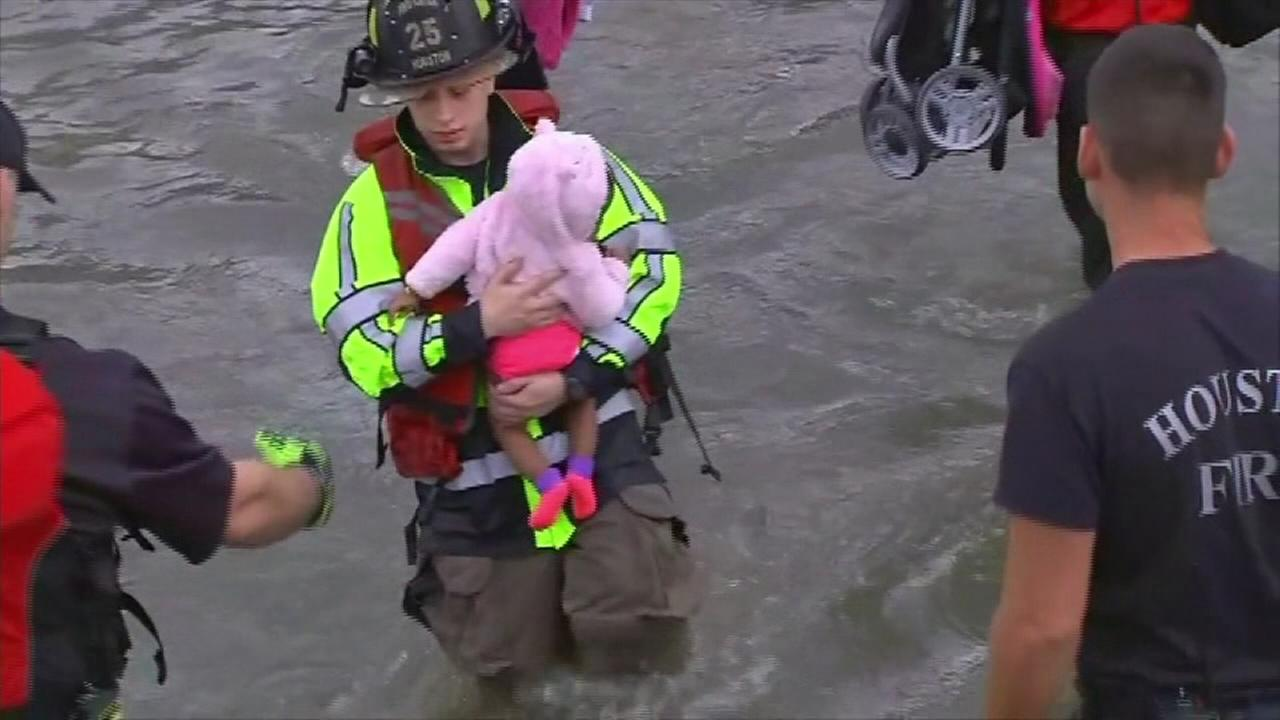 Baby rescued from Texas flood waters