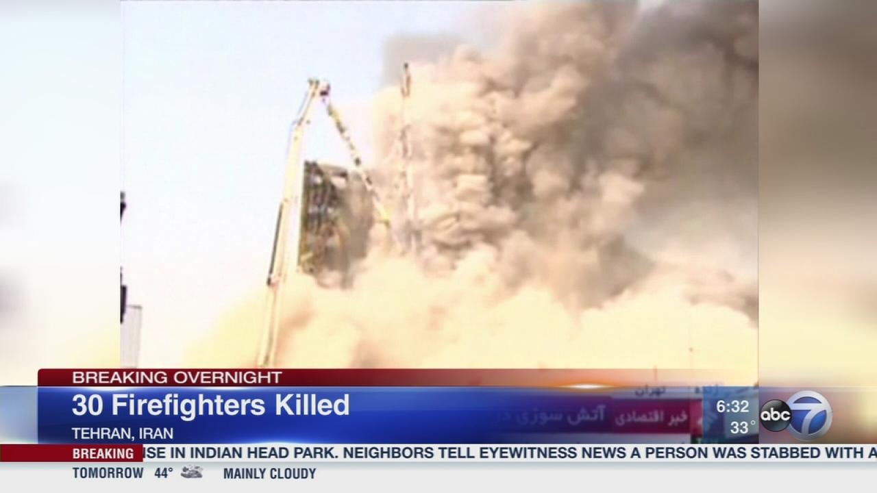 30 firefighters killed in Iran
