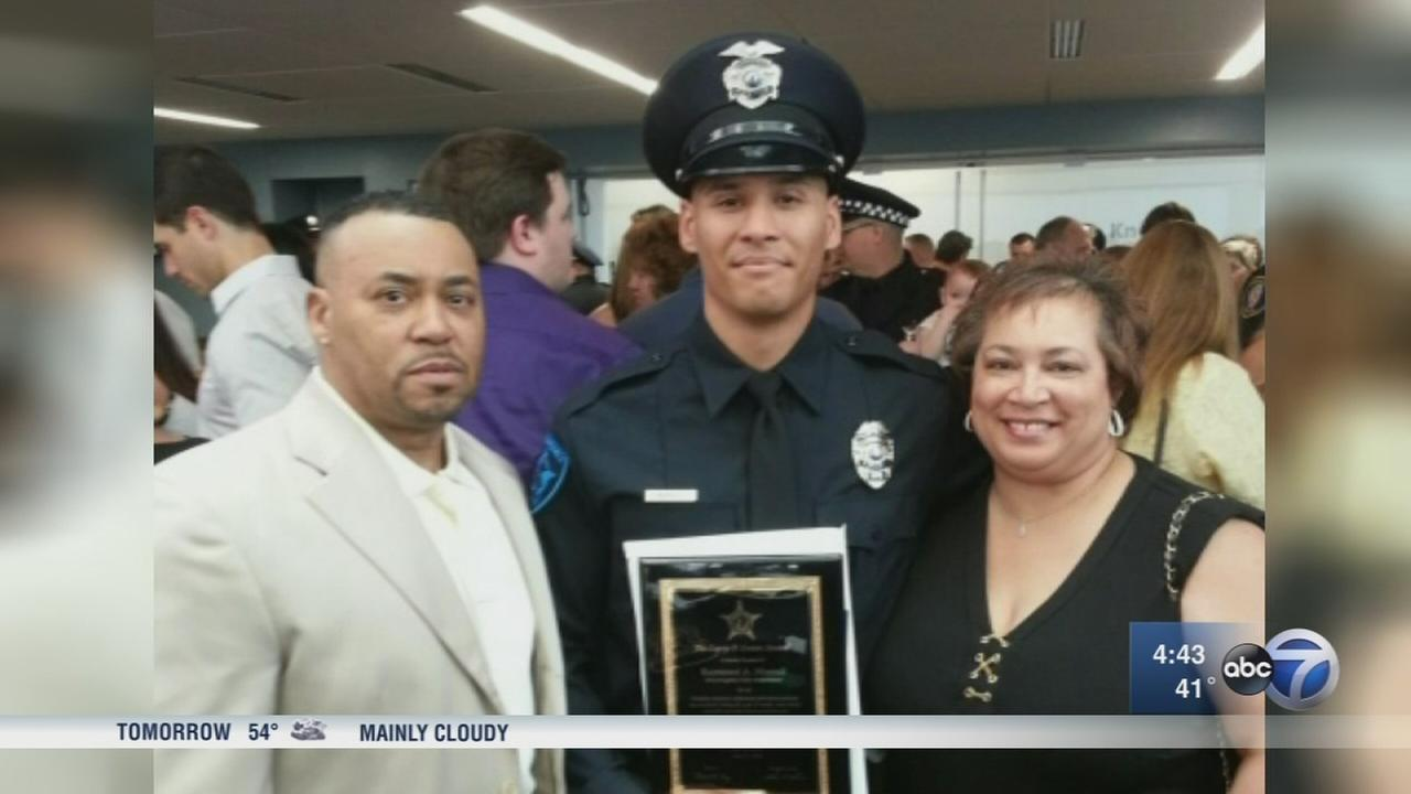 Family, friends mourn suburban police officer killed in crash
