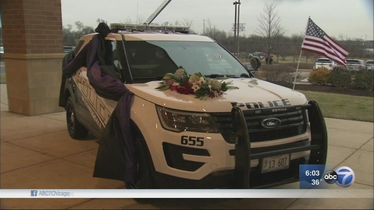 Bloomington police officer honored at wake