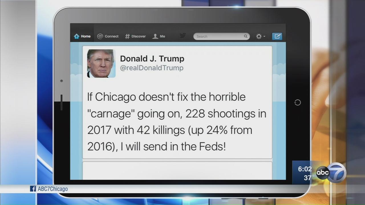 Chicago leaders respond to Trump violence tweet