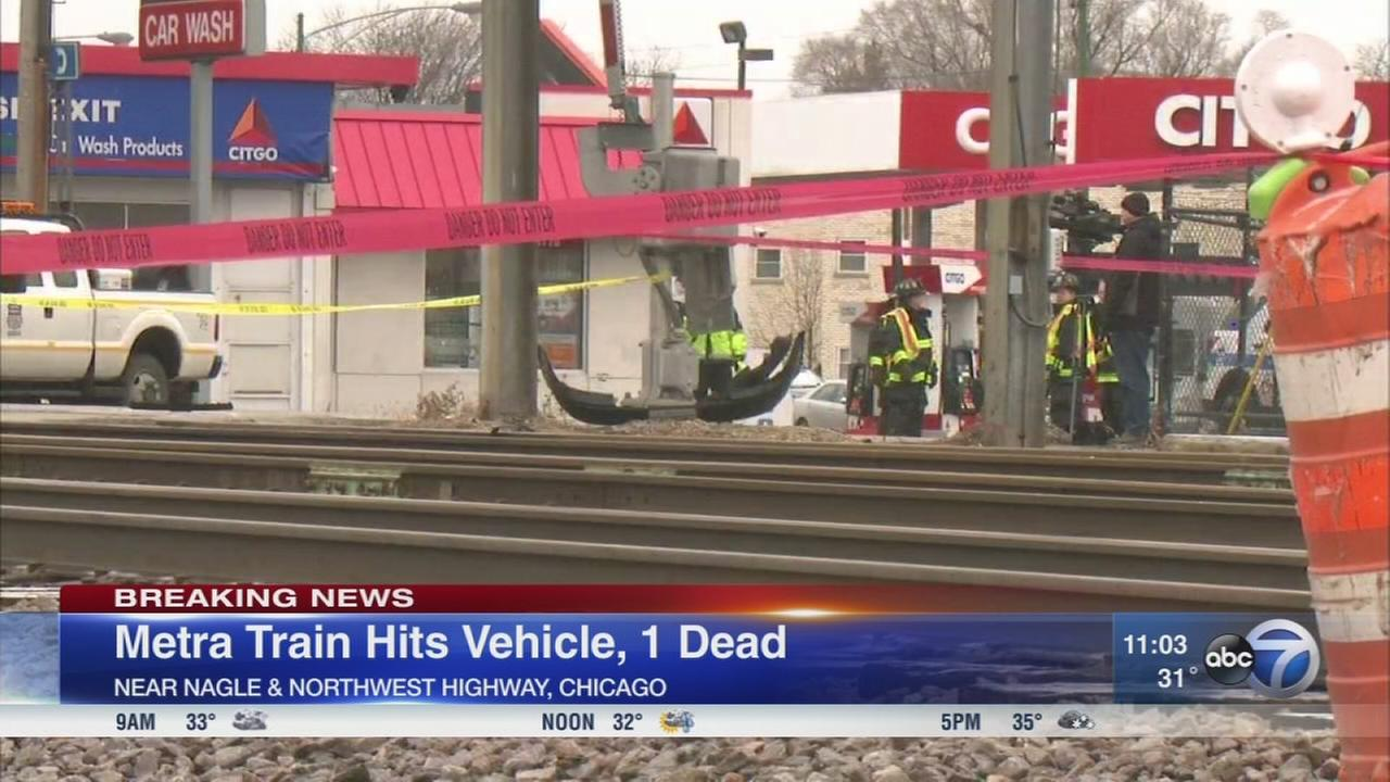 Metra train strikes vehicle in deadly crash