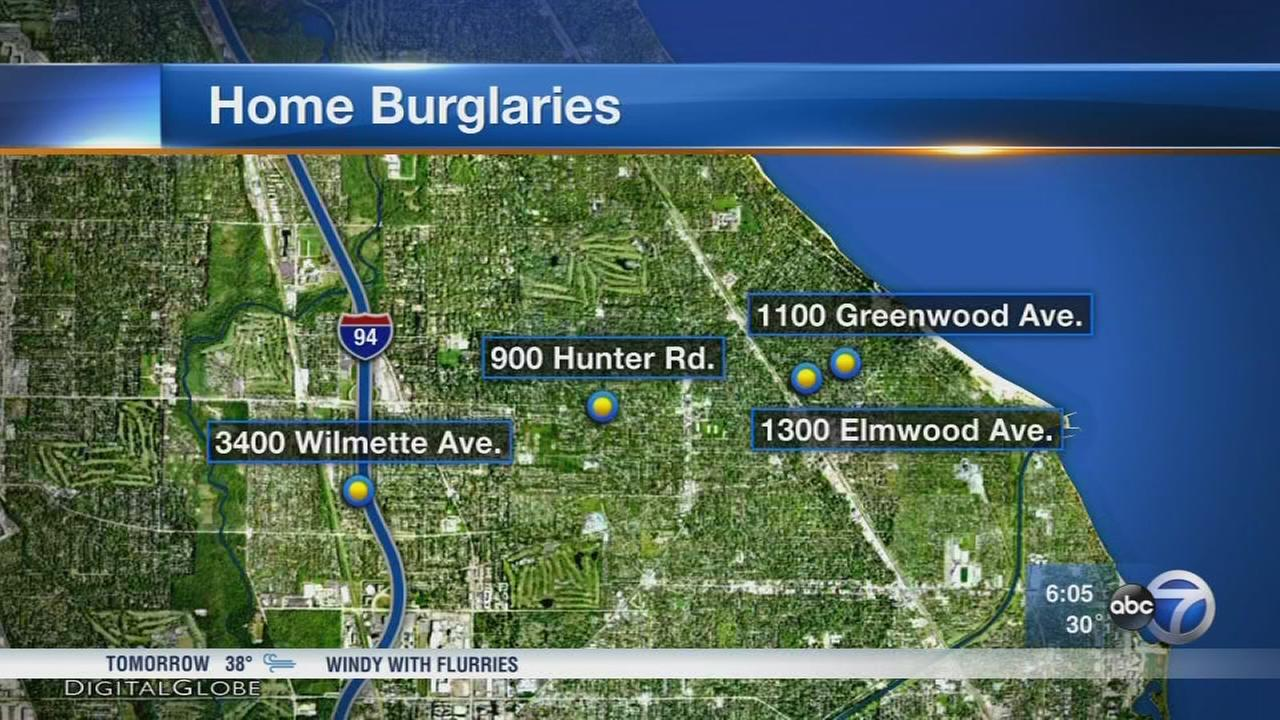 North shore home burglaries