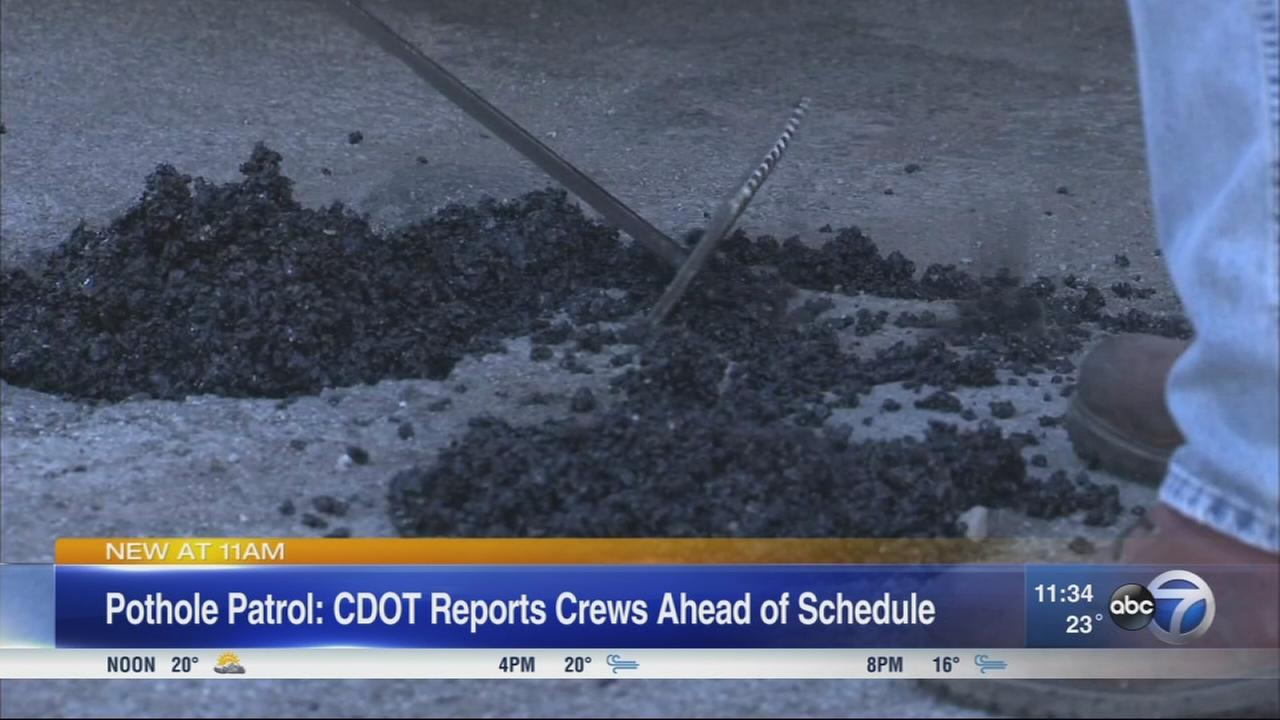 Pothole crews working ahead of schedule