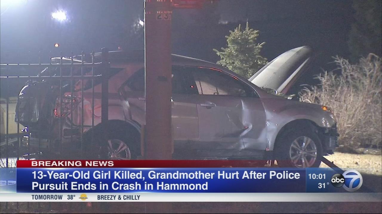 Girl, 13, killed in Hammond crash following police chase