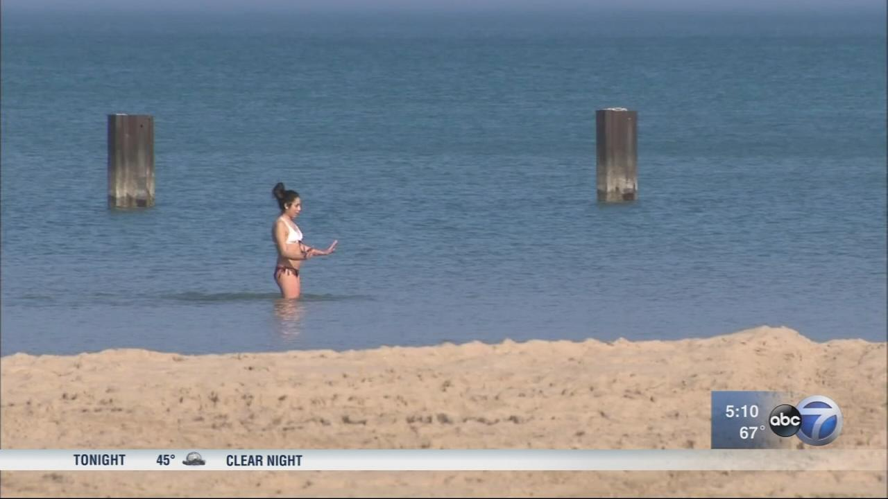 Lakefront busy as warm weather continues