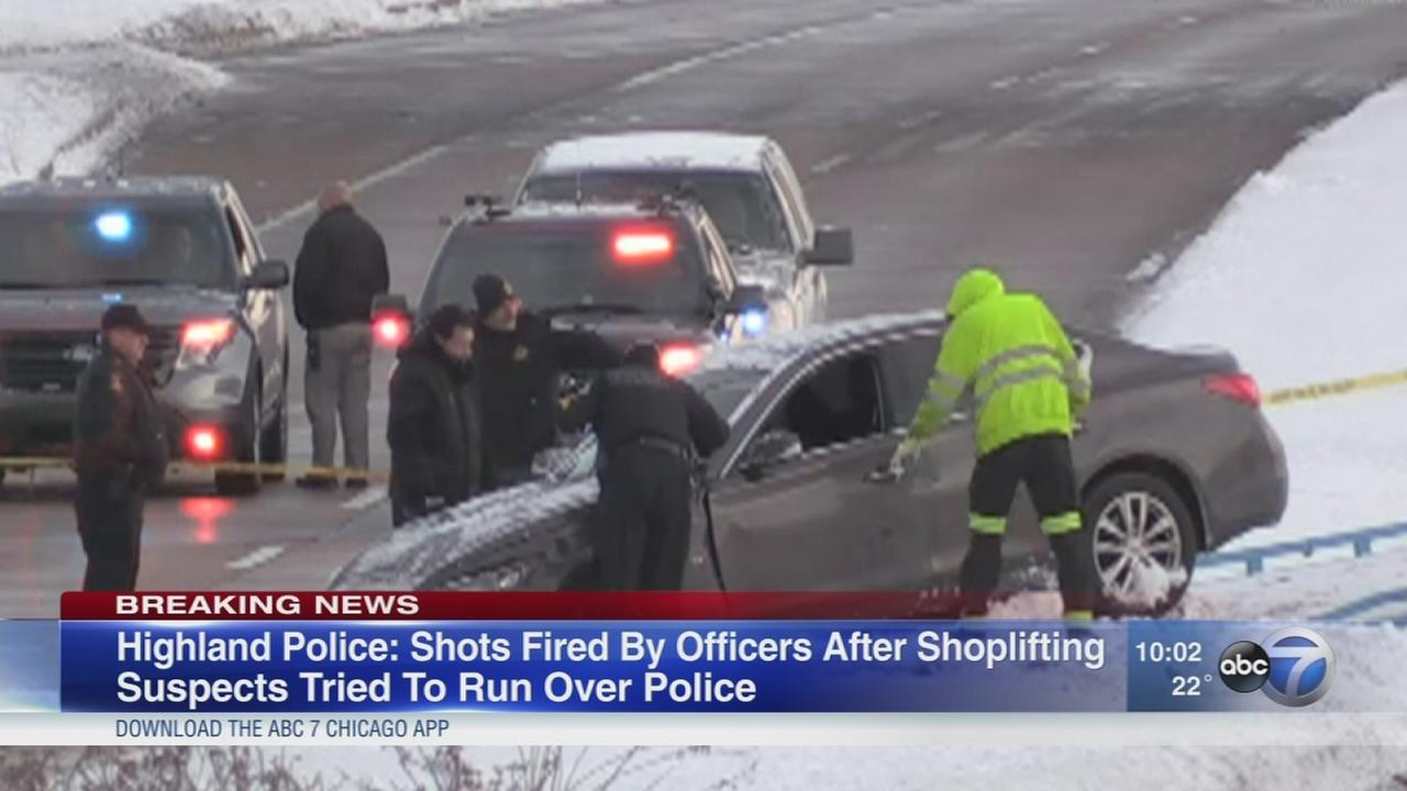 Highland police fire shots while pursuing shoplifting suspects