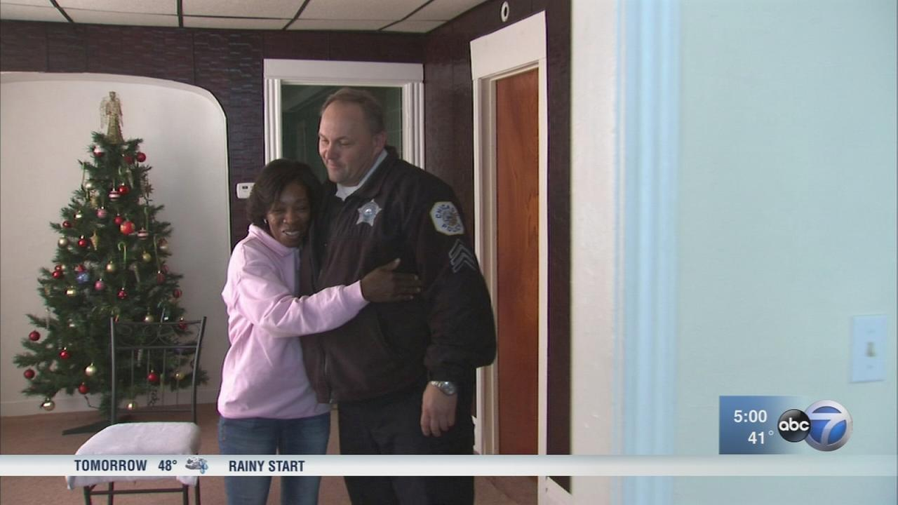 Officer under investigation after helping struggling family