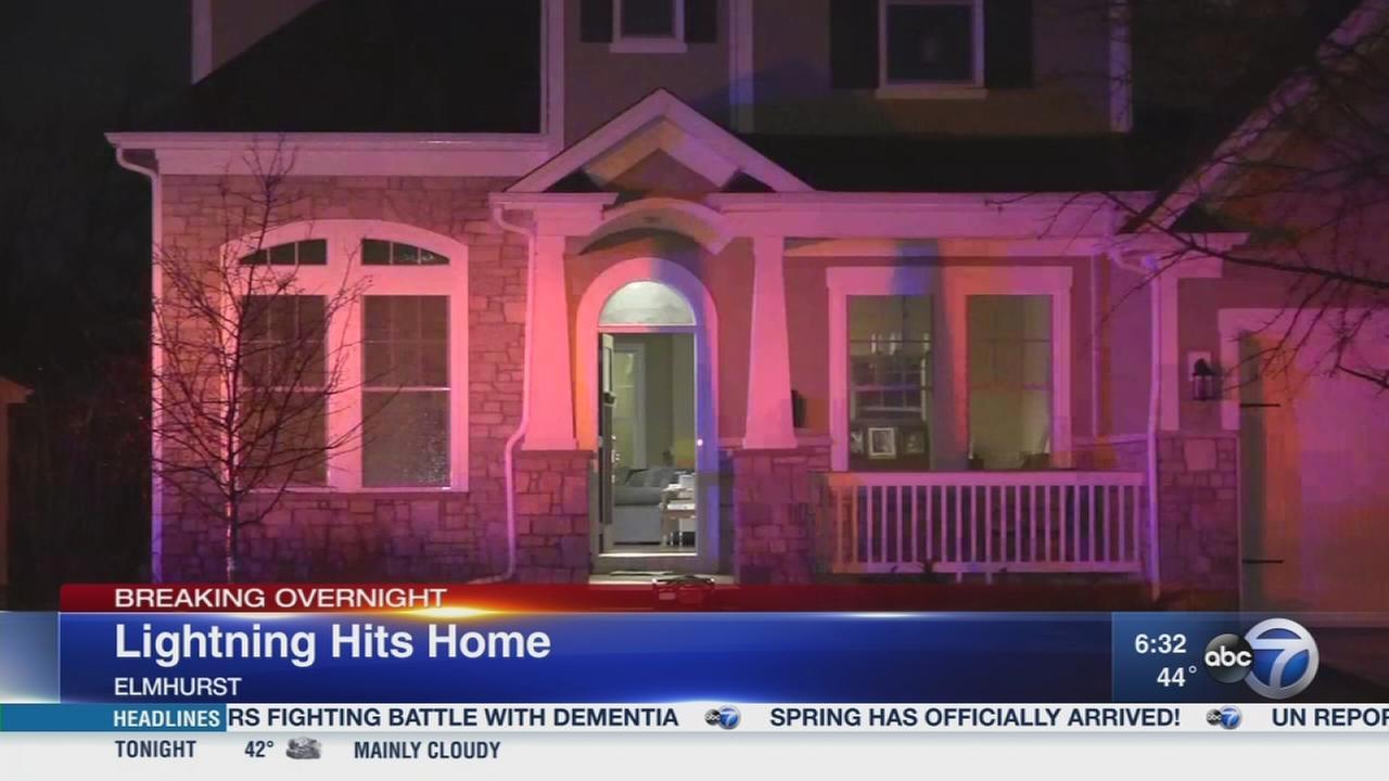Elmhurst home hit by lightning