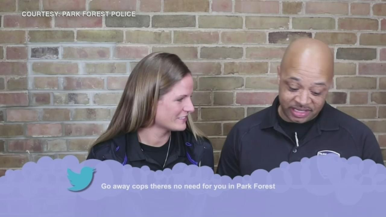 Park Forest police read Mean Tweets