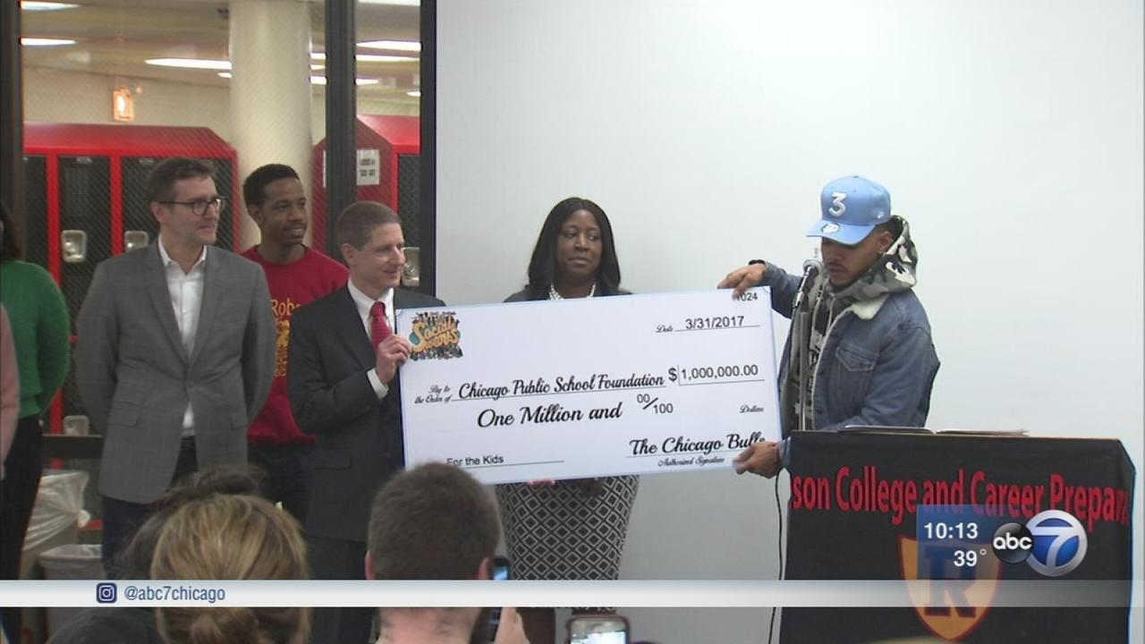 Chance the Rapper announces Chicago Bulls donation of $1 million to CPS