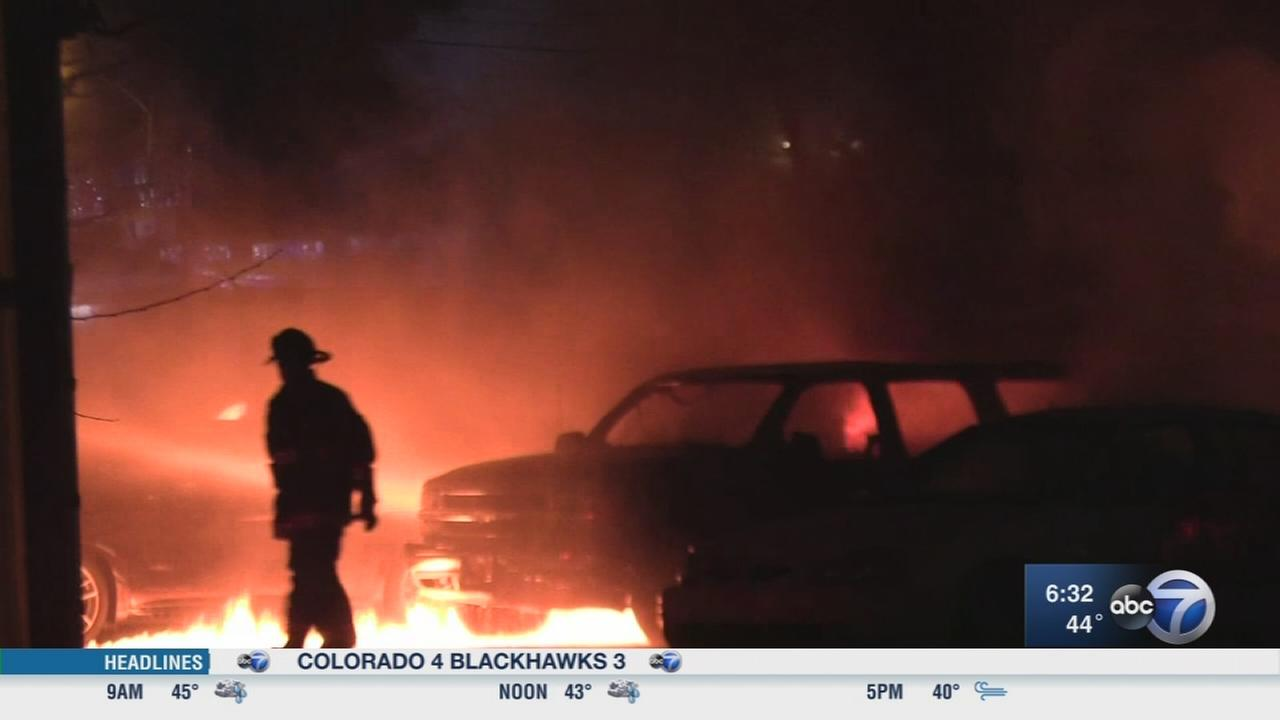 8 cars catch fire in West Englewood
