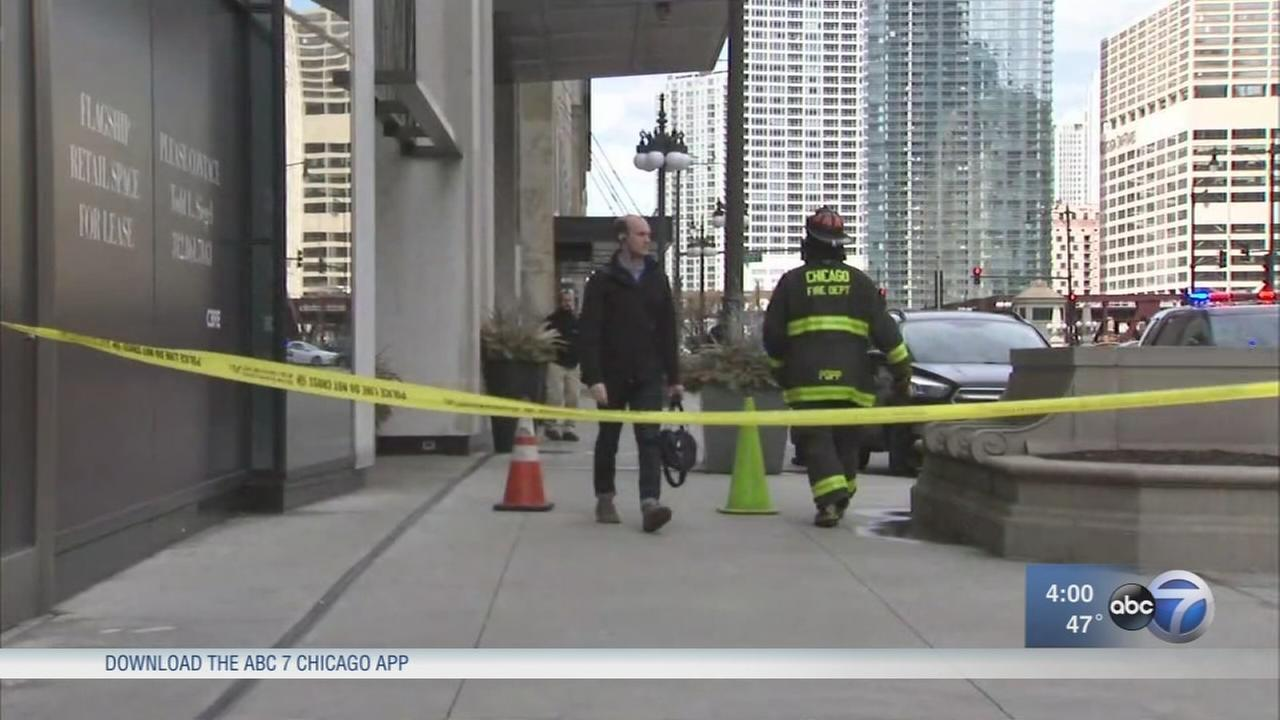 Loop streets close due to falling glass, ice