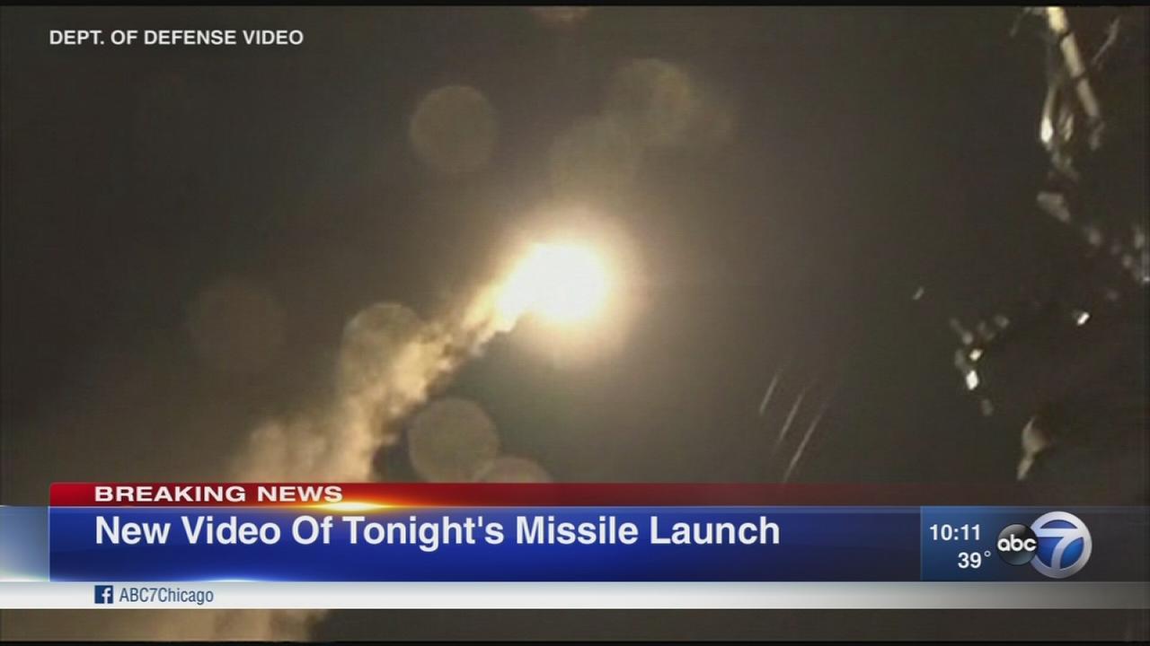 US missiles blast Syria base where chem planes took off