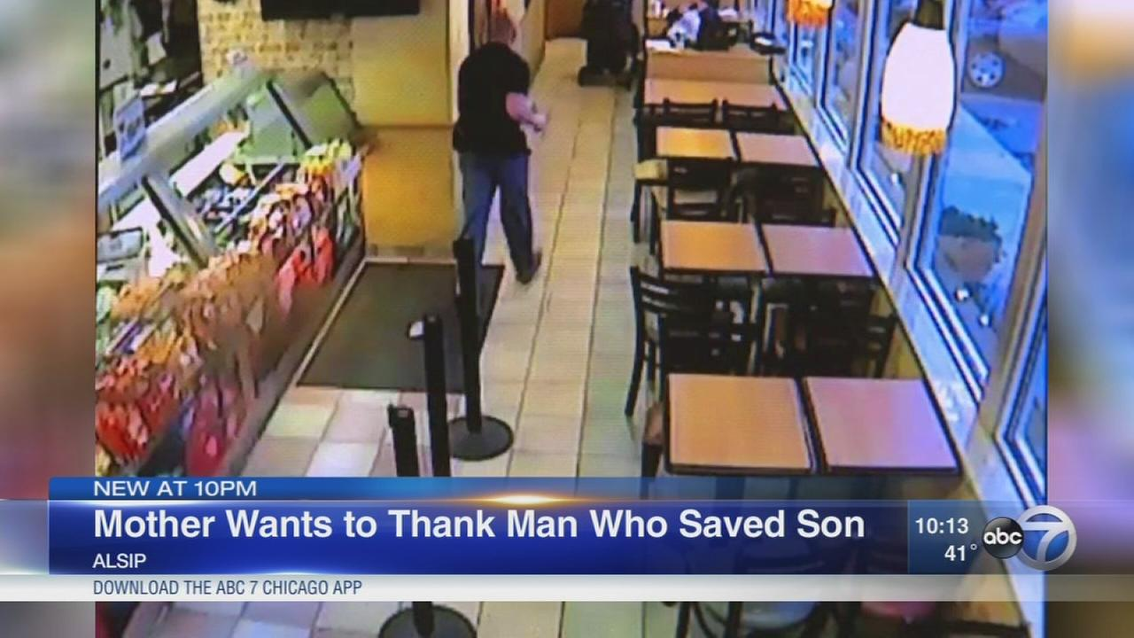 Mother wants to thank man who saved son