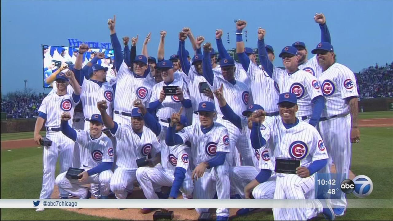 Cubs get World Series rings
