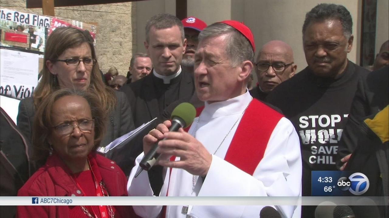 Cardinal Cupich leads hundreds in Englewood peace march
