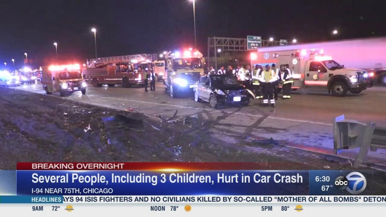 3 kids among several injured in Dan Ryan crash