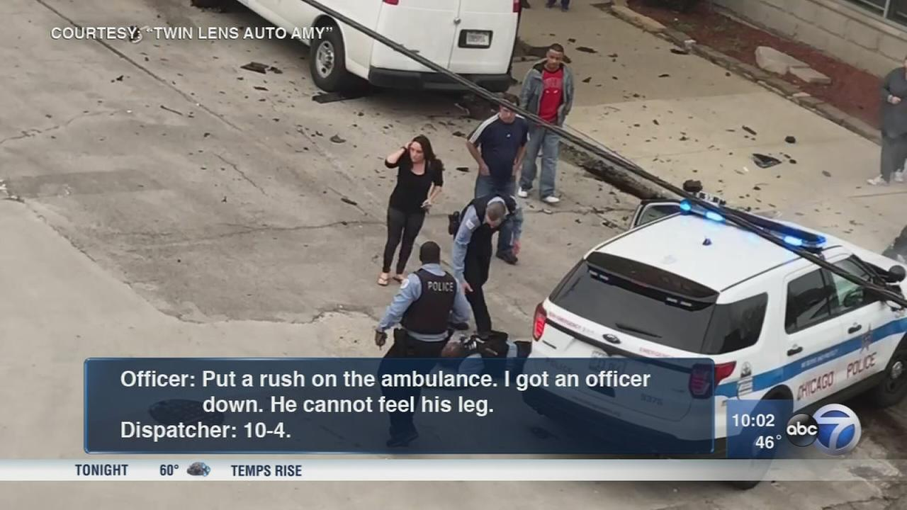 2 Chicago police officers injured in crash responding to fatal shooting