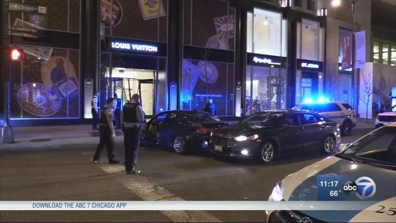 Crash-and-grab burglars target Mag Mile store