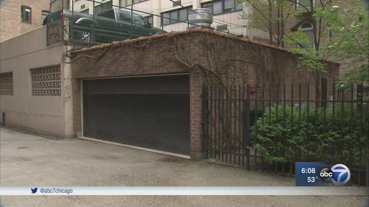 Garage where murder occurred center of court case