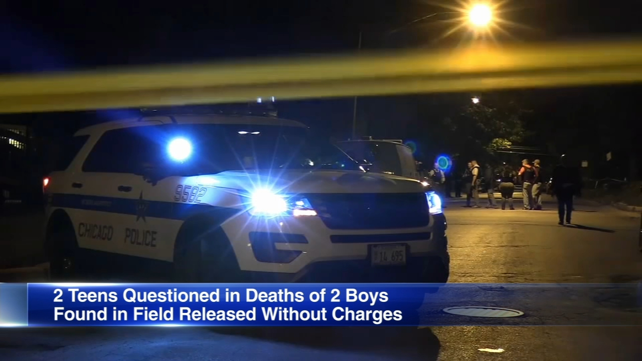 Authorities say two teens questioned by police about the deaths of two boys on Chicagos Far South Side have been released without charges.