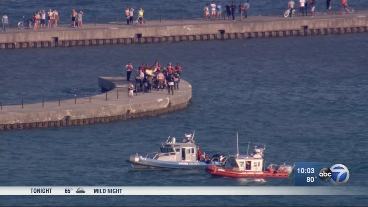 2 rescued from water at Montrose Harbor