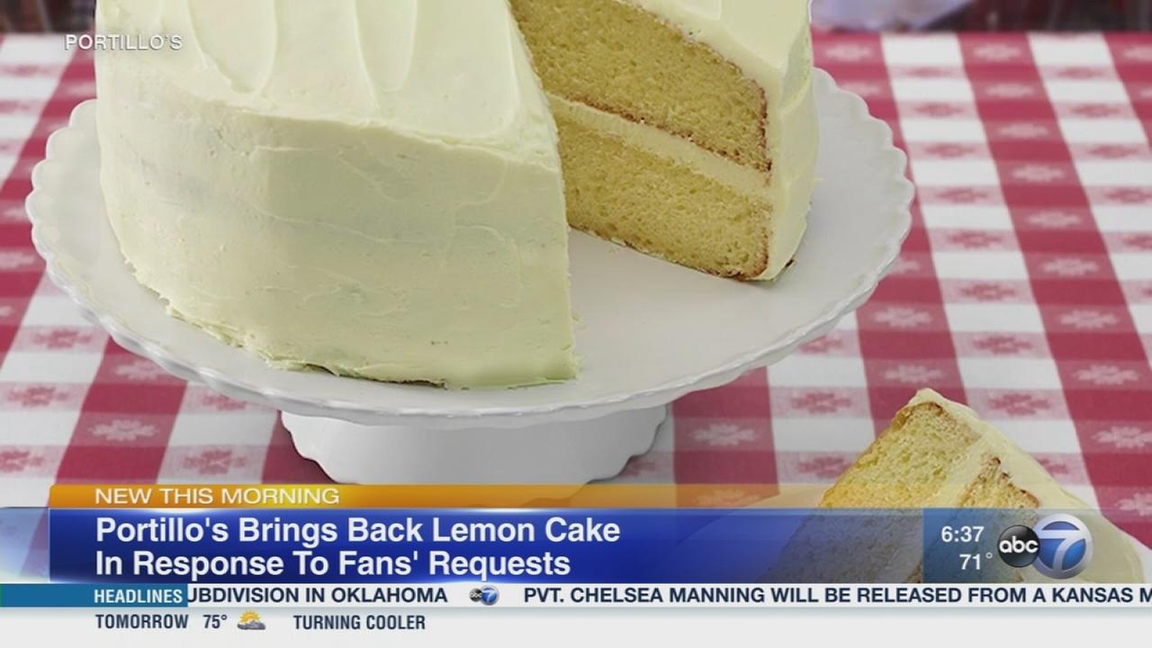 Portillos lemon cake is back