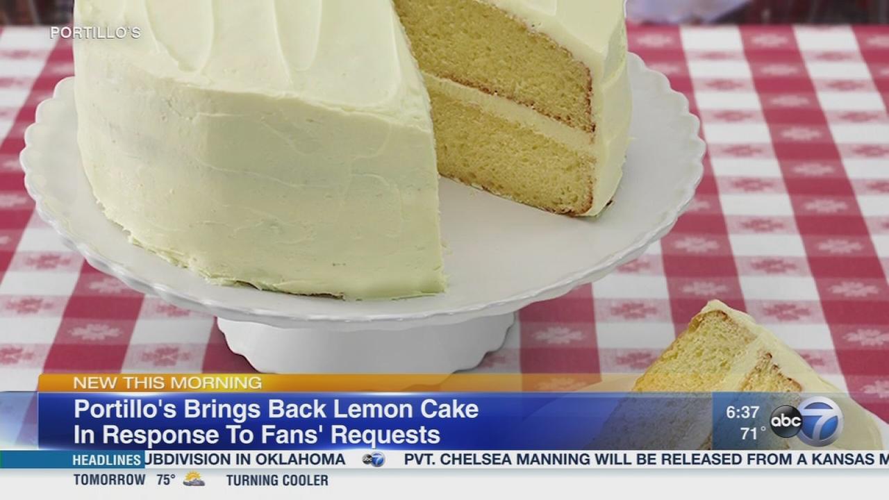 Portillos lemon cake is back