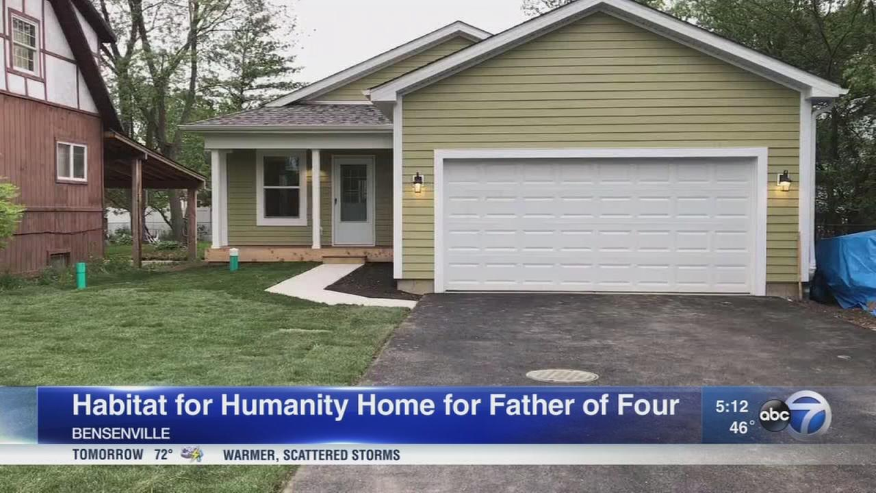 Habitat for Humanity builds home for father of four