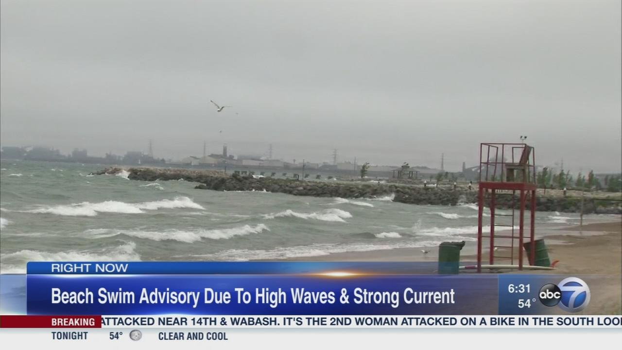 Stay out of Lake Michigan Tuesday