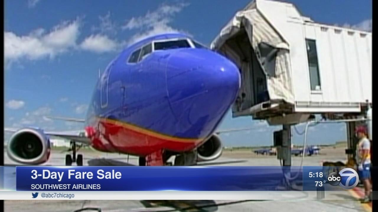 Southwest Airlines launches 3-day sale