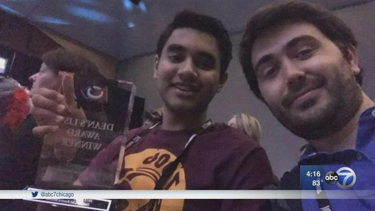 CMSA student first in Chicago to win prestigious robotics award