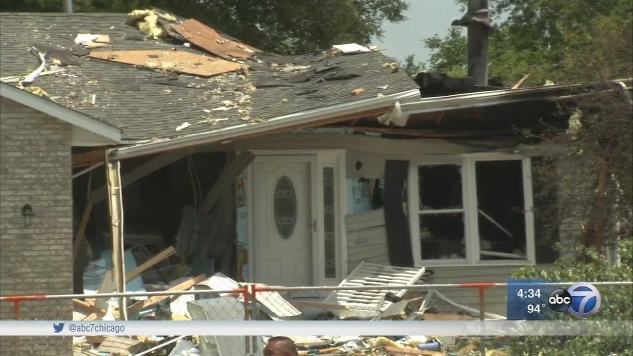 Residents cleanup after Marengo explosion
