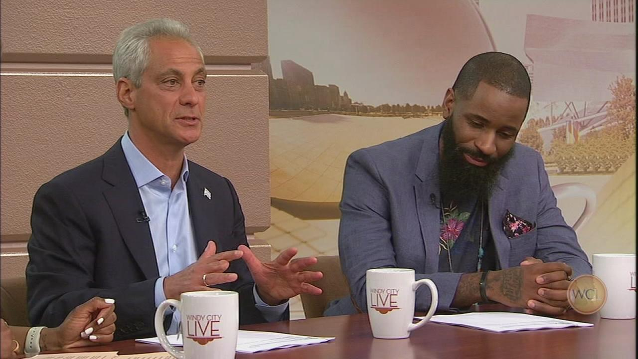Mayor Emanuel, poet Harold Green discuss Father?s Day