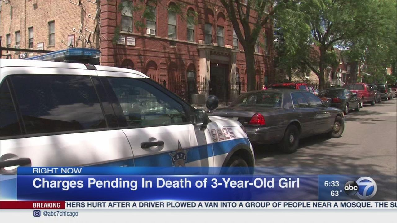 Charges pending in death of girl, 3