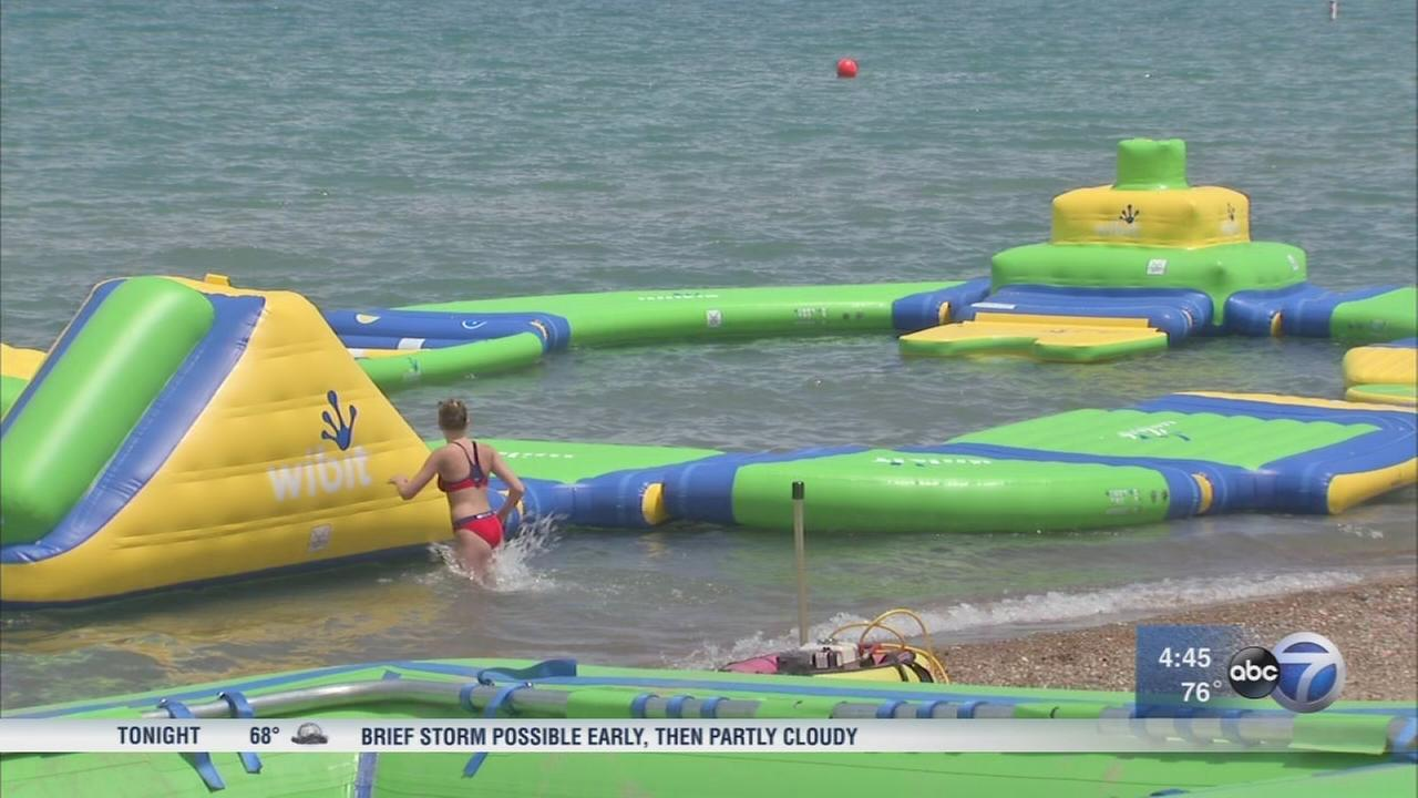 Floating water park set to open on Lake Michigan in Whiting, Indiana