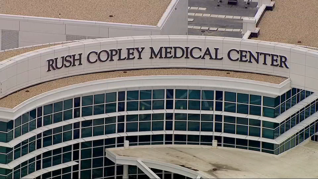 Bomb threats were sent to several locations in Aurora, including Rush Copley Medical Center.