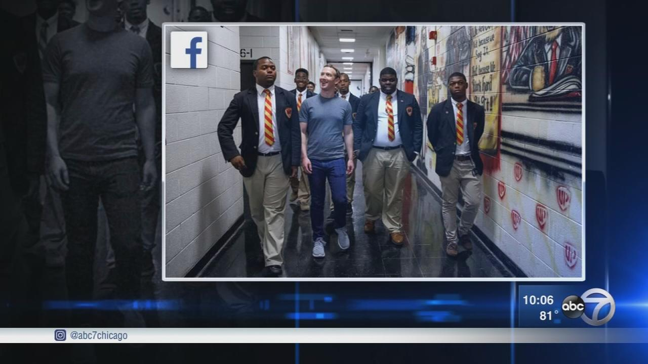 Mark Zuckerberg changes Facebooks mission, tours Chicagos South Side