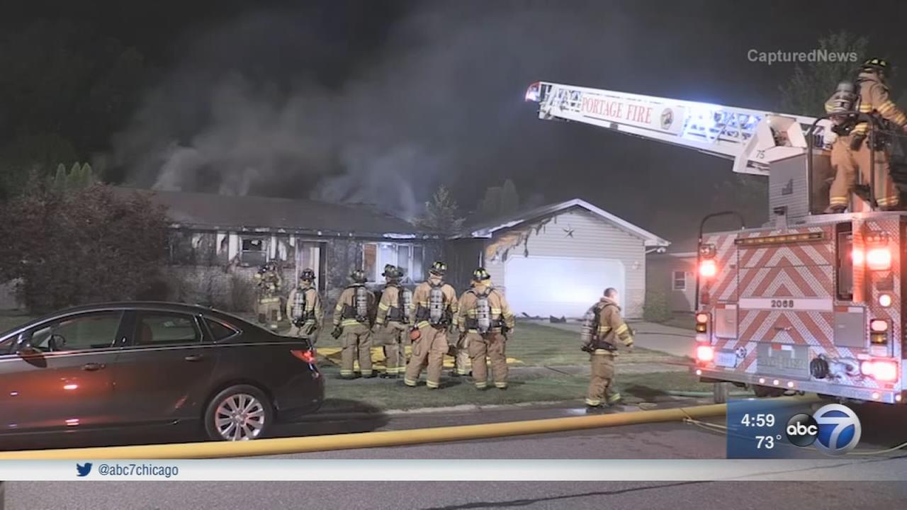 Portage home destroyed in blaze caused by wayward firework